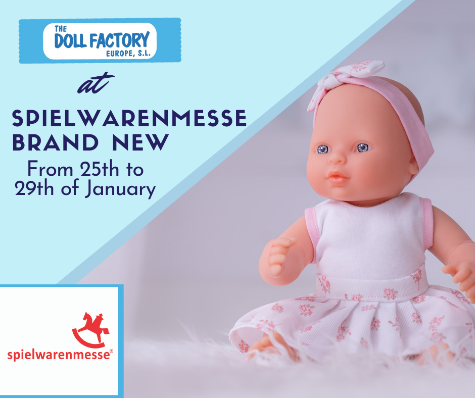 ¡THE DOLL FACTORY EUROPE EN SPIELWARENMESSE BRAND NEW!